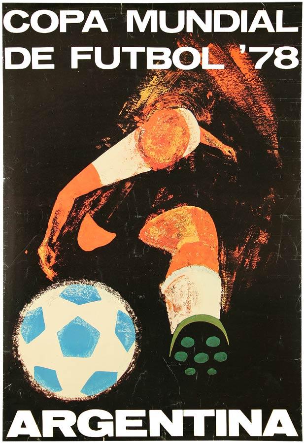 Das Plakat zur WM in Argentinien 1978