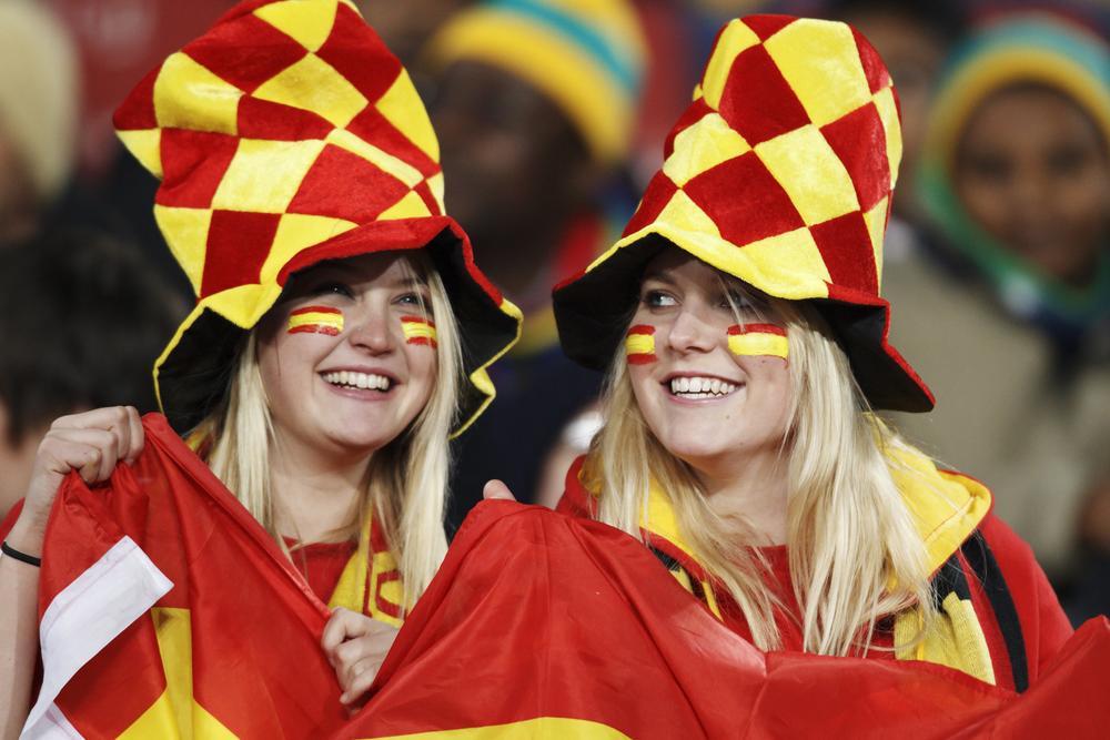 Spanische Fans WM 2010