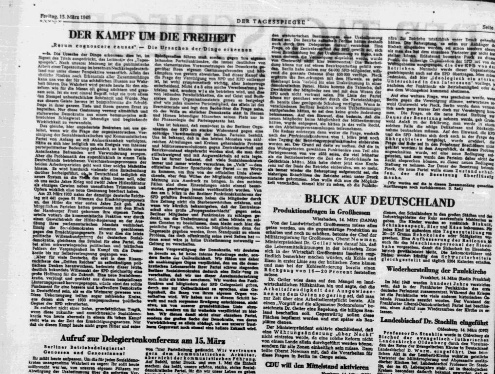 Tagesspiegel 1946