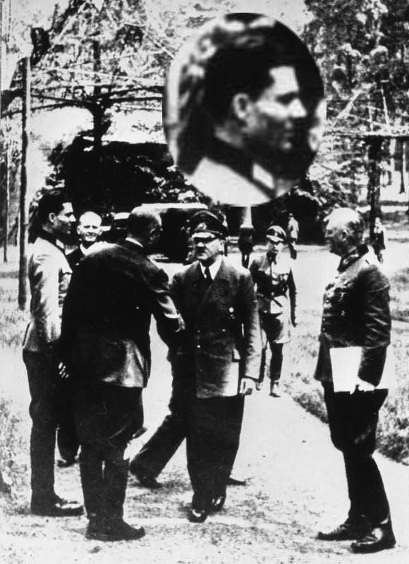 Führerhauptquartier, Stauffenberg, Hitler, Keitel---Stauffenberg