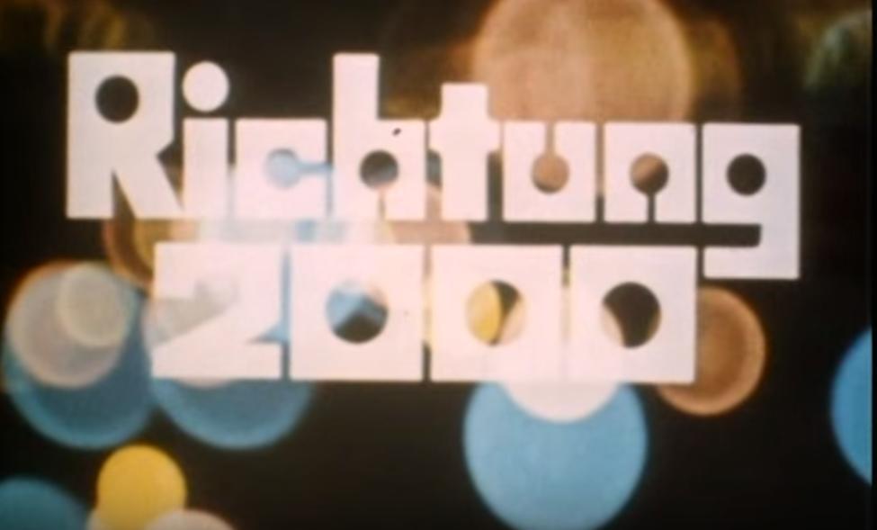 Screenshot aus der Sendung Richtung 2000